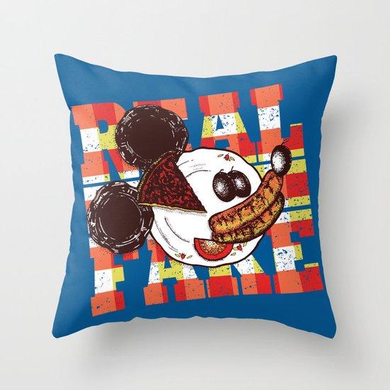 Real Fake Throw Pillow