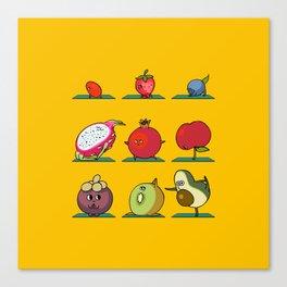Super Fruits Yoga Canvas Print