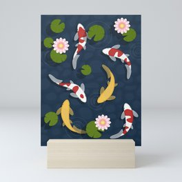 Japanese Koi Fish Pond Mini Art Print
