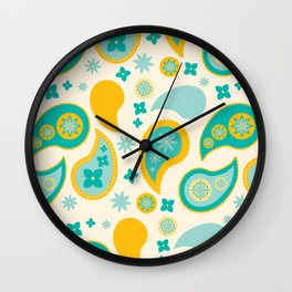 A Sea of Paisley Wall Clock