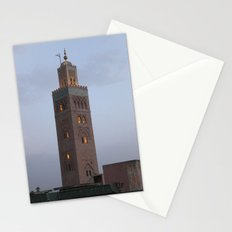 Marrakech, Morocco. Glowing Mosque Stationery Cards