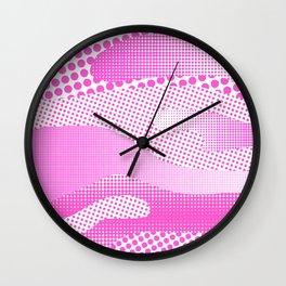Pink Sea Wall Clock
