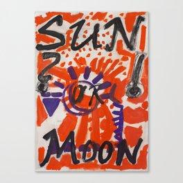 Sun or Moon Canvas Print