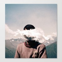 cloud Canvas Prints featuring cloud by Monika Traikov