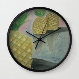 Festive Pineapples Wall Clock