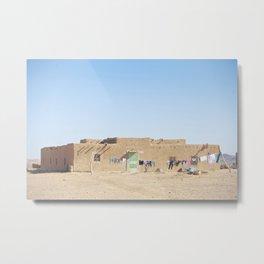Sahara Desert Home in Morocco Metal Print