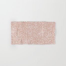 Little wild cheetah spots animal print neutral home trend warm dusty rose coral Hand & Bath Towel