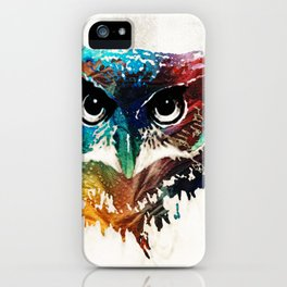 Colorful Owl Art - Wise Guy - By Sharon Cummings iPhone Case