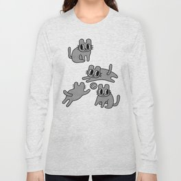 I ♥ cats but I am allergic to cat fur Long Sleeve T-shirt