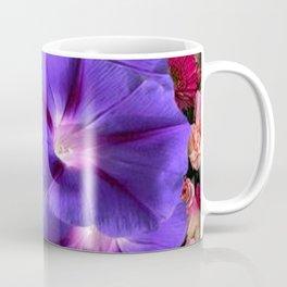 PURPLE MORNING GLORIES FLORAL ART Coffee Mug