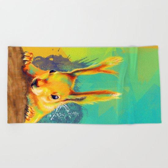 Tassel-eared Squirrel Beach Towel