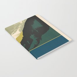 Lovely Lake Louise vintage travel ad Notebook
