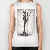 maleficent Biker Tanks featuring Maleficent by Jena Sinclair