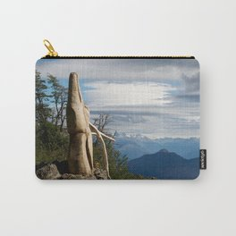 Old wooden soul: deer in El Bosque Tallado Carry-All Pouch