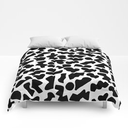 Shapes, Black and White Comforters