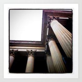 Columns Art Print