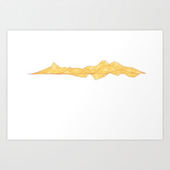 Yellow lands Art Print