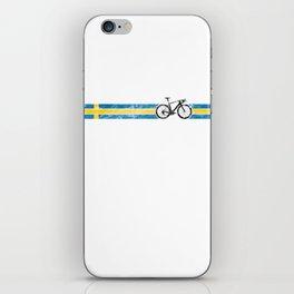 Cyclist Flag Sweden Swedish SE Bike Race Cycling Black iPhone Skin