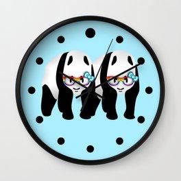 Gay Pride Pandas Wall Clock