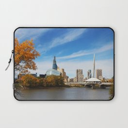 Downtown Winnipeg 2 Picture Panorama Laptop Sleeve
