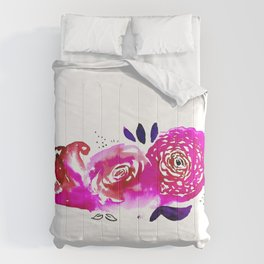 Three Purple Christchurch Roses Comforters