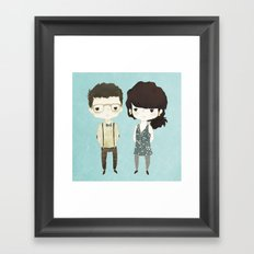 The Happily Im-Perfect Couple Framed Art Print