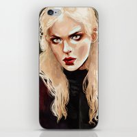 warrior iPhone & iPod Skins featuring Warrior by Feline Zegers