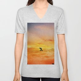 sunset balance Unisex V-Neck