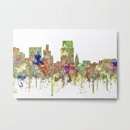 Boise, Idaho Skyline SG - Faded Glory Metal Print