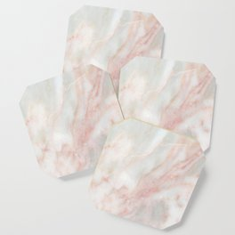 Softest blush pink marble Coaster