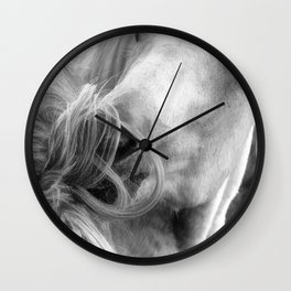 Horse Grooming Design Wall Clock