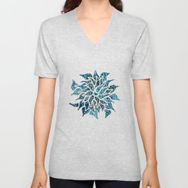Floral Abstract 25 Unisex V-Neck