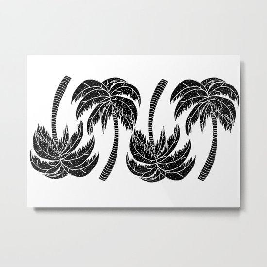 Palmtree Pattern Metal Print