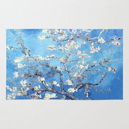 Vincent Van Gogh Almond Blossoms. Sky Blue Rug