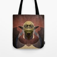 yoda Tote Bags featuring Yoda by lazylaves