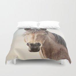 Horse Photograph, Soft Color Duvet Cover