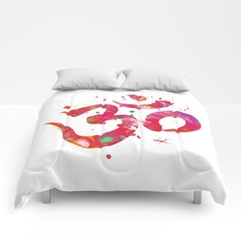 Colorful Om Symbol Comforters