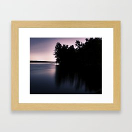 mauve Framed Art Print