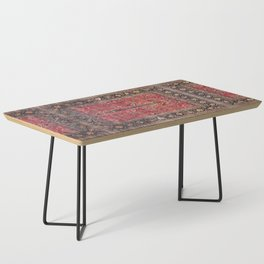 Antique Persian Red Rug Coffee Table