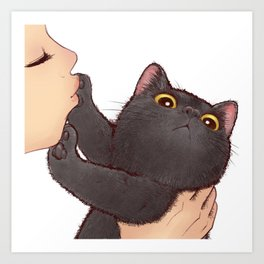 cat : huuh Art Print