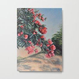 Oleander in the yard Metal Print