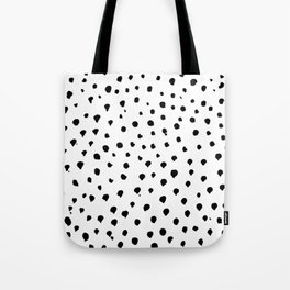 Dalmatian dots black Tote Bag