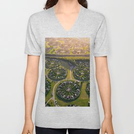 Colony Gardens in Copenhagen, Denmark Unisex V-Neck