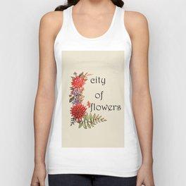 city of flowers . artwork Unisex Tank Top