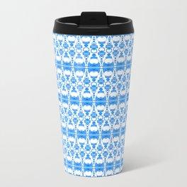 Dividers 02 in Blue over White Travel Mug