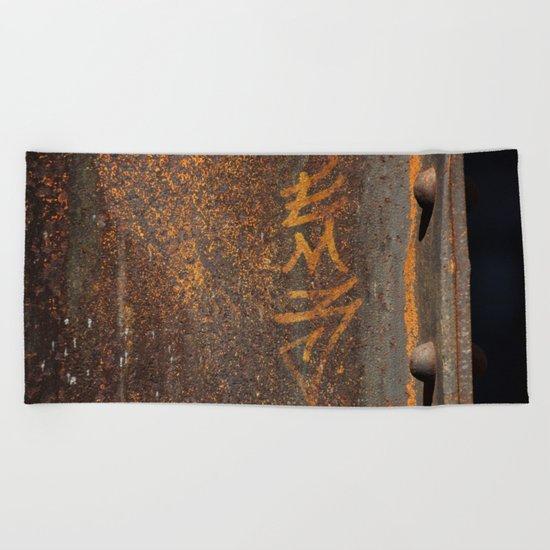 Raw Steel Beach Towel