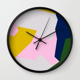 Patchwork 01 Wall Clock