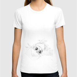 Little owl, Pigwidgeon, flying with a letter T-shirt