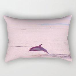 Pink Porpoise Rectangular Pillow
