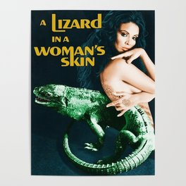 A Lizard in a Woman's skin, vintage horror movie poster Poster